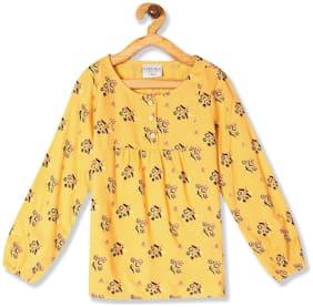CHEROKEE Girl Rayon Printed Top - Yellow