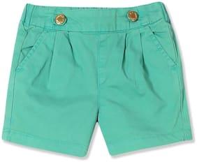 CHEROKEE Girl Cotton Solid Regular shorts - Green