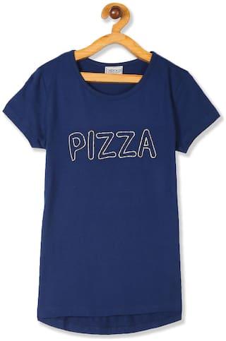 CHEROKEE Girl Cotton Embellished T shirt - Blue