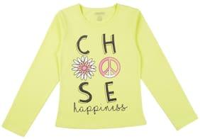CHEROKEE Girl Cotton Printed T shirt - Green