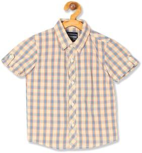 CHEROKEE Boy Cotton Checked Shirt Beige