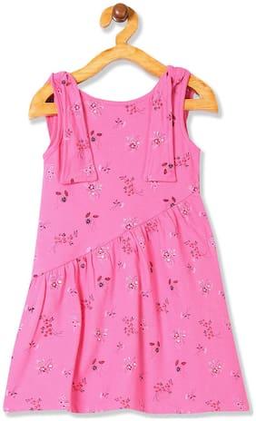 CHEROKEE Pink Cotton Blend Sleeveless Knee Length Princess Frock ( Pack of 1 )