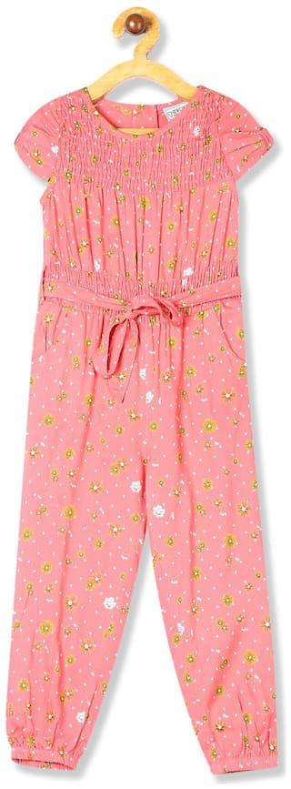CHEROKEE Rayon Printed Bodysuit For Girl - Pink