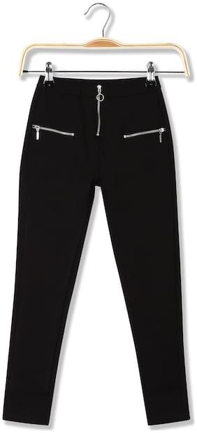 CHEROKEE Rayon Solid Leggings - Black