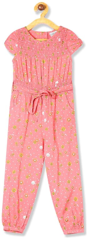 CHEROKEE Rayon Printed Bodysuit For Girl - Pink