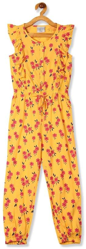 CHEROKEE Rayon Printed Bodysuit For Girl - Yellow