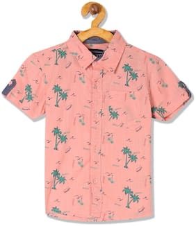 CHEROKEE Boy Cotton Printed Shirt Pink