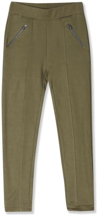 CHEROKEE Viscose Solid Leggings - Green