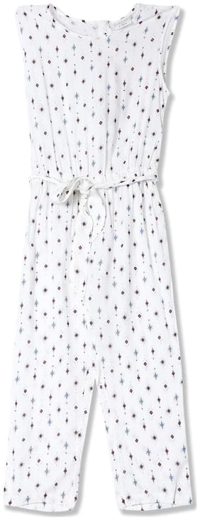 CHEROKEE Viscose Printed Onesies For Girl - White