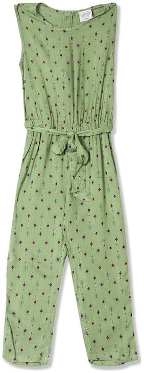 CHEROKEE Viscose Printed Bodysuit For Girl - Green