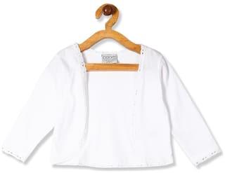CHEROKEE White Girls Solid Knit Shrug