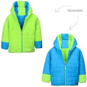 Cherry Crumble By Nitt Hyman Boy Polyester Solid Winter jacket - Green
