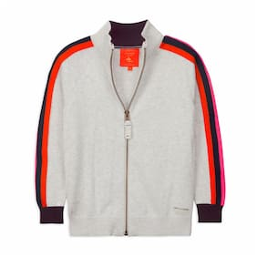 Cherry Crumble By Nitt Hyman Boy Poly cotton Solid Sweater - Grey