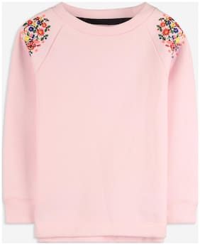 Cherry Crumble Boy Cotton Solid Sweatshirt - Pink
