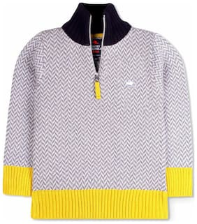 Cherry Crumble By Nitt Hyman Boy Acrylic Solid Sweatshirt - Yellow