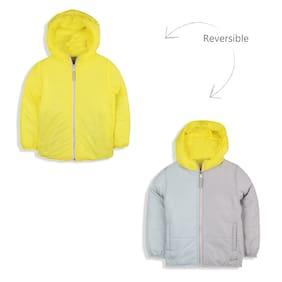 Cherry Crumble By Nitt Hyman Boy Polyester Solid Winter jacket - Yellow