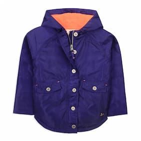 Cherry Crumble By Nitt Hyman Boy Polyester Solid Winter jacket - Purple