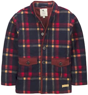 Cherry Crumble By Nitt Hyman Boy Poly cotton Checked Winter jacket - Multi