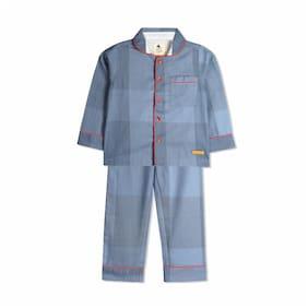 Cherry Crumble By Nitt Hyman Royal Sleep Night Suit Nightwear Set Blue