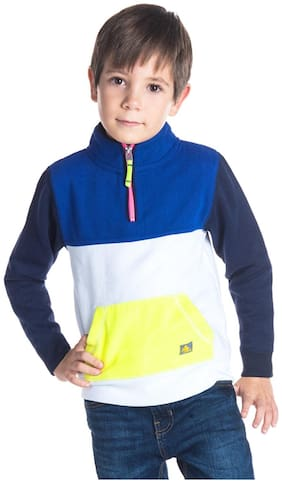 Cherry Crumble By Nitt Hyman Boy Poly cotton Colorblocked Sweatshirt - Multi