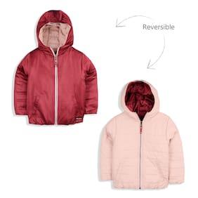 Cherry Crumble By Nitt Hyman Boy Polyester Solid Winter jacket - Maroon