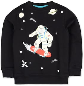 Cherry Crumble By Nitt Hyman Boy Poly cotton Cartoon print Sweatshirt - Black
