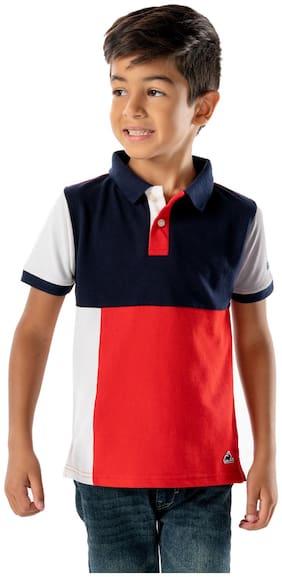 Cherry Crumble By Nitt Hyman Cotton Solid T shirt for Baby Boy - Multi
