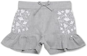 Grey Cargo Shorts Shorts