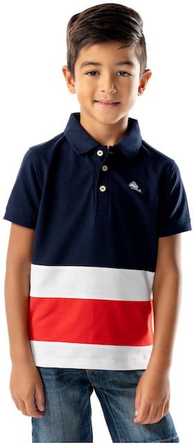Cherry Crumble Boy Cotton blend Colorblocked T-shirt - Multi