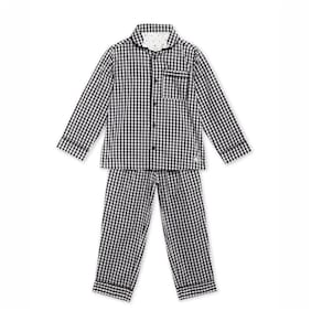 Cherry Crumble By Nitt Hyman Fun Checkered Nightsuit with Eye Mask