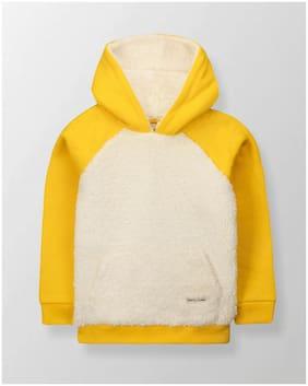 Cherry Crumble Boy Cotton blend Colorblocked Sweatshirt - Yellow