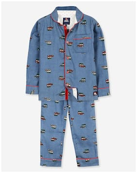 Cherry Crumble Peter Pan Nightsuit (Blue)