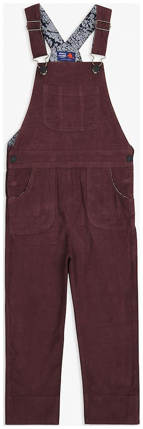 Cherry Crumble By Nitt Hyman Baby girl Cotton blend Solid Romper - Maroon