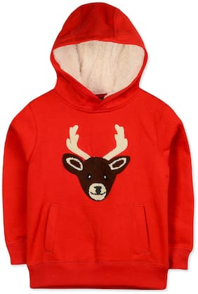 CHERRY CRUMBLE Boy Poly cotton Printed Sweatshirt - Red