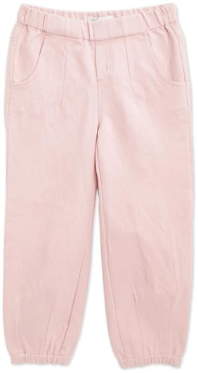 Cherry Crumble By Nitt Hyman Girl Cotton blend Trousers - Pink