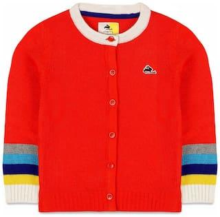 Cherry Crumble By Nitt Hyman Baby boy Acrylic Solid Sweater - Multi