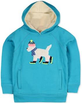 Cherry Crumble By Nitt Hyman Boy Poly cotton Cartoon print Sweatshirt - Blue