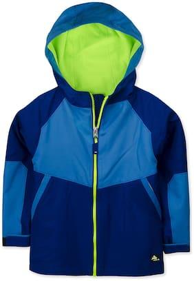 Cherry Crumble By Nitt Hyman Boy Polyester Colorblocked Winter jacket - Blue
