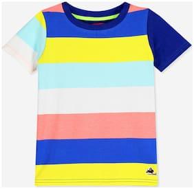 Cherry Crumble Boy Cotton Colorblocked T-shirt - Multi