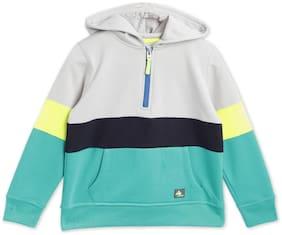 Cherry Crumble By Nitt Hyman Boy Cotton blend Colorblocked Sweatshirt - Multi