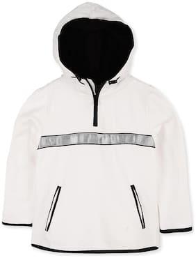Cherry Crumble By Nitt Hyman Boy Blended Solid Sweatshirt - White