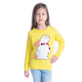 Cherry Crumble Boy Polyester Solid Sweatshirt - Yellow