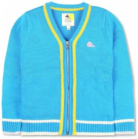 Cherry Crumble Boy Acrylic Solid Sweater - Multi