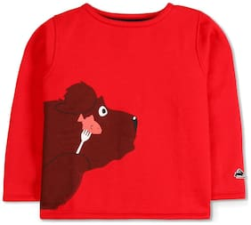Cherry Crumble Baby boy Cotton Printed Sweatshirt - Red