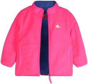 Cherry Crumble By Nitt Hyman Boy Polyester Solid Winter jacket - Pink
