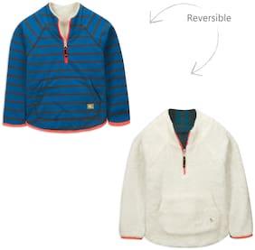 Cherry Crumble By Nitt Hyman Boy Poly cotton Striped Sweatshirt - Blue