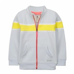 Cherry Crumble By Nitt Hyman Boy Poly cotton Striped Sweatshirt - Grey & Yellow
