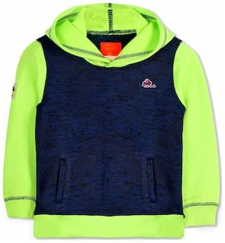 Cherry Crumble By Nitt Hyman Boy Cotton Solid Sweatshirt - Green