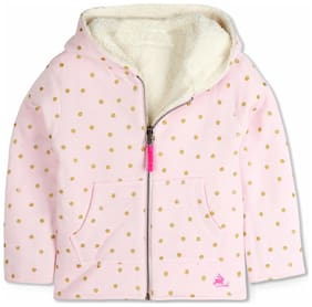 Cherry Crumble By Nitt Hyman Girl Cotton Solid Sweater - Pink