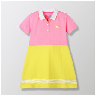 Cherry Crumble By Nitt Hyman Baby girl Cotton Solid Collar frock - Multi